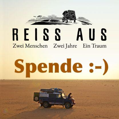 Reiss Aus Filmplakat mit Beschriftung Spende